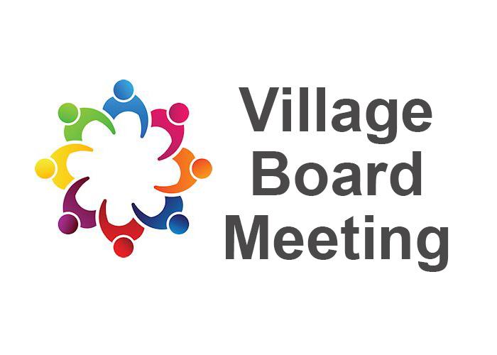 Village Board Meeting